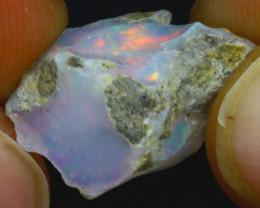 6.33Ct Multi Color Play Ethiopian Welo Opal Rough H0318/R2