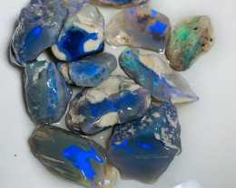 Parcel of Cutters - 58 Cts of Select Semi-Black Nobby Opals to Cut