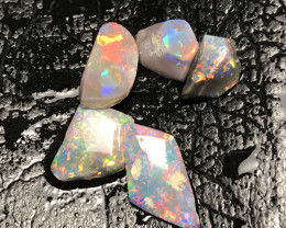 Parcel of Black Crystal Opal Rough Rubs - Lightning Ridge