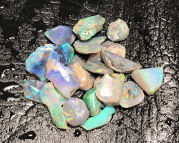 Parcel of Black Crystal and Crystal Opal Rough Rubs - Lightning Ridge