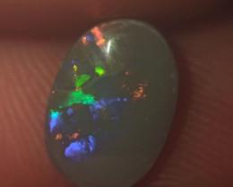 Semi black Lighting ridge Natural Opal,0.7 carats