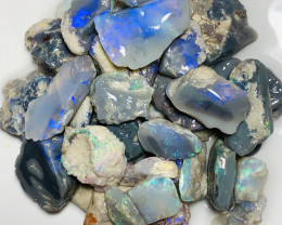 Nobby- Bright Dark Rough Opals With Potential & Cutters#2252