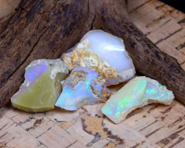 Welo Rough 31.25Ct Natural Ethiopian Play Of Color Rough Opal D0203