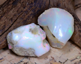 Welo Rough 29.65Ct Natural Ethiopian Play Of Color Rough Opal D0204