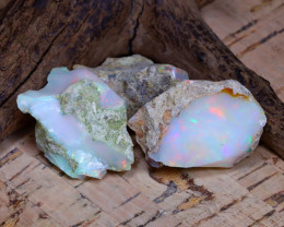 Welo Rough 39.30Ct Natural Ethiopian Play Of Color Rough Opal D0205