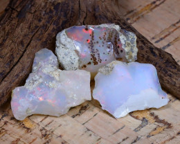 Welo Rough 40.56Ct Natural Ethiopian Play Of Color Rough Opal D0209