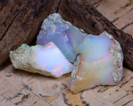 Welo Rough 36.55Ct Natural Ethiopian Play Of Color Rough Opal D0211