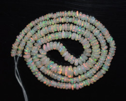 29.45 Ct Natural Ethiopian Welo Opal Beads Play Of Color OB128