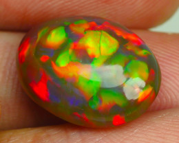 7.660 CRT RARE!! NATURAL DARK BASE, 5/5 BRIGHT PUZZLE PATTERN NEON COLORS W