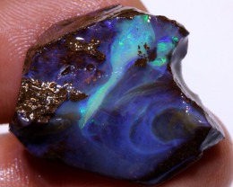 38.50 cts Ocean Blues Boulder Opal Faced Rub  DO-1333