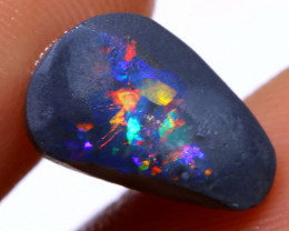 2.10 cts Australian Black Opal Lightning Ridge rub DO-1345