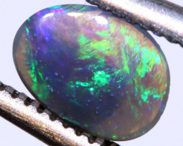 0.45 cts Australian Dark Opal Lightning Ridge Cut Stone DO-1352