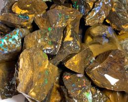 1500 Cts of Colourful Potential Rough Matrix Boulder Opals