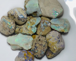 Bright Opals Sticking On the Host Rock- 130 CTs Nobby#2340