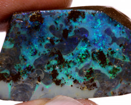 36.80 cts Ocean Blues Boulder Opal Faced Rub  DO-1365