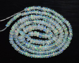 27.35 Ct Natural Ethiopian Welo Opal Beads Play Of Color OB109