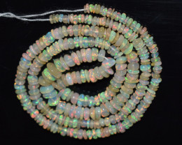 28.90 Ct Natural Ethiopian Welo Opal Beads Play Of Color OB110