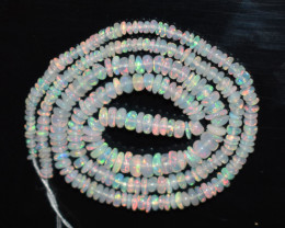 24.45 Ct Natural Ethiopian Welo Opal Beads Play Of Color OB112