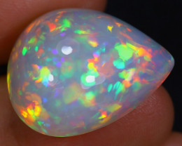 22.84cts Natural DARK BASE Ethiopian Welo Opal / BF5141