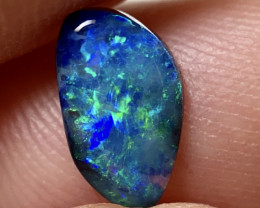 Aqua Blue Gem Black Opal!!