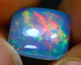 Welo Opal 3.66Ct Natural Ethiopian Blue Base Play of Color Opal HR85