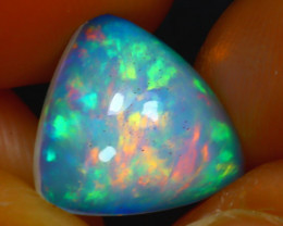 Welo Opal 2.70Ct Natural Ethiopian Blue Base Play of Color Opal HR87