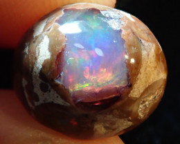 5.78ct Mexican Matrix Cantera Multicoloured Fire Opal