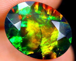 3.80cts Natural Ethiopian Faceted Smoked Welo Opal / BF5204