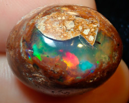 23.4ct Mexican Matrix Cantera Multicoloured Fire Opal