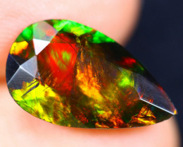 2.95cts Natural Ethiopian Welo Faceted Smoked Opal / HM1759