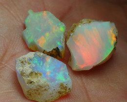 11.380CRT WELO OPAL ROUGH MULTICOLOR ETHIOPIAN OPAL