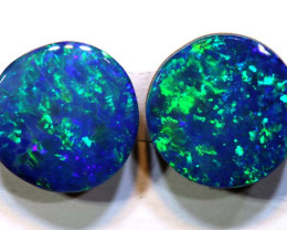 1.5 CTS  7X7    OPAL DOUBLET  CALIBRATED PAIR  LO-6362