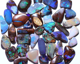 40 STONES BOULDER OPAL PARCEL FROM WINTON - WELL POLISHED [FJP4302]