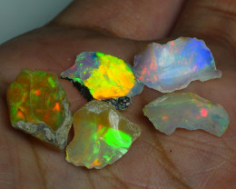 11.755CRT WELO OPAL ROUGH MULTICOLOR ETHIOPIAN OPAL