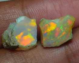 6.550CRT WELO OPAL ROUGH MULTICOLOR ETHIOPIAN OPAL
