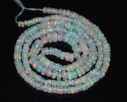 30.40 Ct Natural Ethiopian Welo Opal Beads Play Of Color OB157