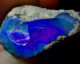7.63ct A6 Blue  Cutting Rough Quality Solid Welo Opal