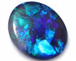 0.56 CTS BLACK OPAL STONE-FROM LIGHTNING RIDGE -9 [SEDA7802]