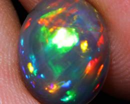 $500 2.41CT 11X9MM Dark Base!! Collector Quality Rare Welo Ethiopian Opal G
