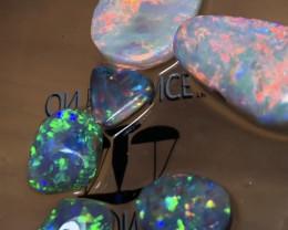 19.5cts Lightning Ridge Opal Rubs Parcel 6 pieces