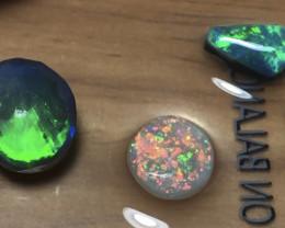 6.5cts Lightning Ridge Opal Rubs Parcel 3 pieces