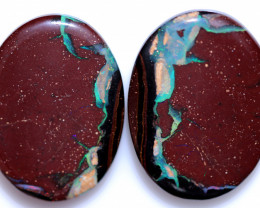 1$ PER CARAT 88 CTS BOULDER OPAL PAIRS FROM KOROIT [FJP4328]