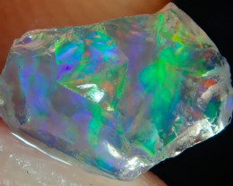 1.35ct Water Opal With Play Of Colour Bright Carved