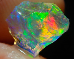 1.6ct Water Opal With Play Of Colour Bright Carved