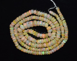 38.20 Ct Natural Ethiopian Welo Opal Beads Play Of Color OB174