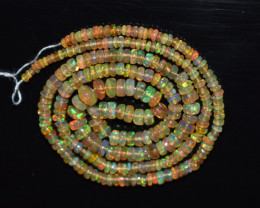 31.00 Ct Natural Ethiopian Welo Opal Beads Play Of Color OB176