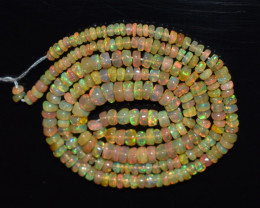 34.05 Ct Natural Ethiopian Welo Opal Beads Play Of Color OB179