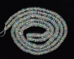 24.60 Ct Natural Ethiopian Welo Opal Beads Play Of Color OB182