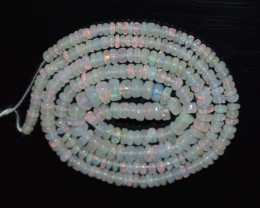 31.75 Ct Natural Ethiopian Welo Opal Beads Play Of Color OB183