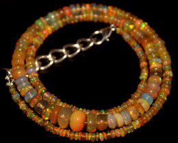43 Crts Natural Ethiopian Welo Opal Beads Necklace 478
